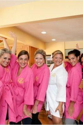 Personalized Waffle Bridal Robes Set of 8
