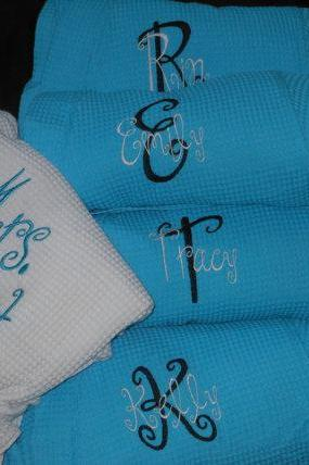 Personalized Bridal Robes Set of 5