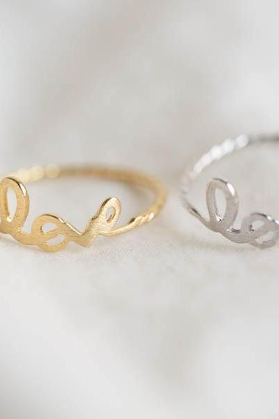 Love twisted ring, Jewelry,Ring,love,freindship,bridesmaids gift,girlfriend gift,love ring,Love Romantic,Gift For Her,twist love,R260N