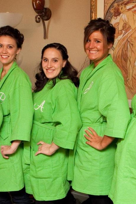 Personalized Bridesmaid Robes Set of 6