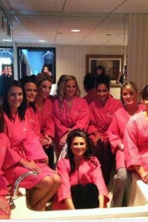 Personalized Set of 9 Waffle Robes. Great Bridesmaid Gifts...