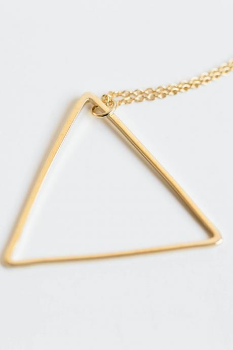 Little Big TRIANGLE Necklace..Triangle necklace,unique necklace,Historical necklace.uncommon necklace,N169K