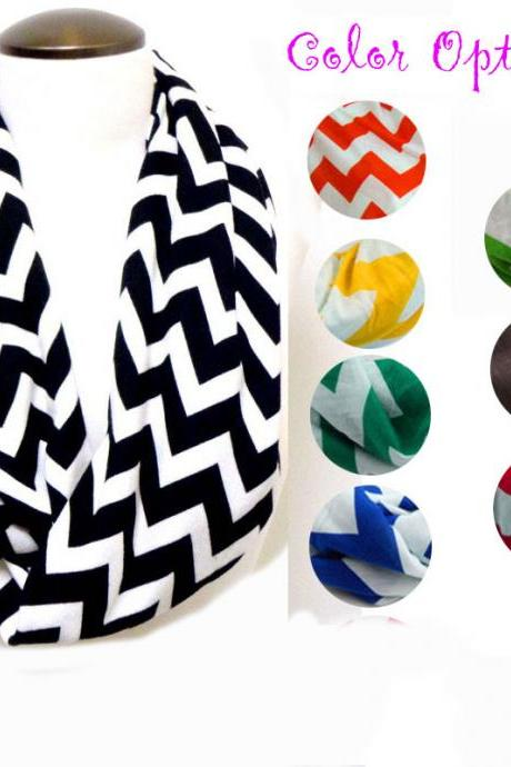 Buy 2 Get 1 Free 3 Different Colors, 2014 Popular Jersey Chveron Infinity Scarf
