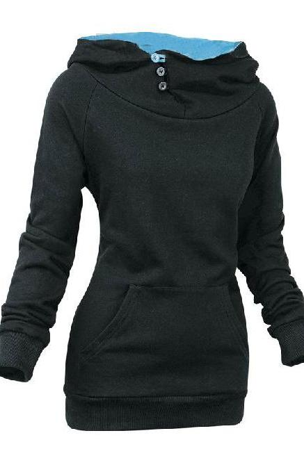 European Style Long Sleeves Women Hoodies