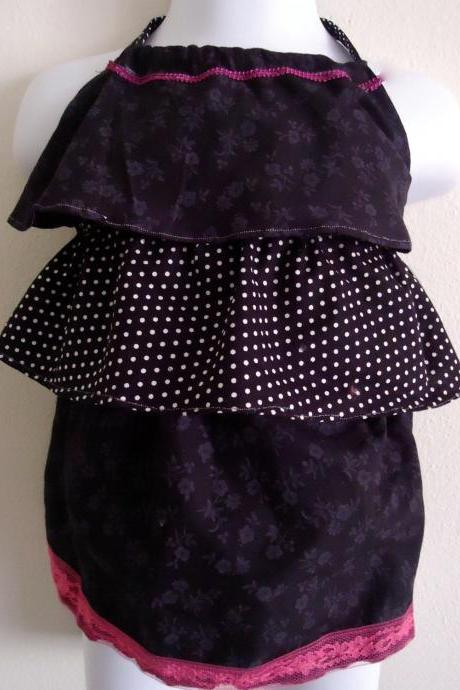 Ruffled Halter Top Handmade Sizes 18 Months to 6T