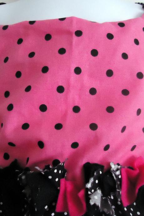 Halter Sunsuit Polka Dots HANDMADE Size 12 to 18 Months
