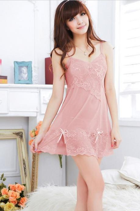 Sexy Charming and Enchanting Sleepdress Sleepwear with G-String