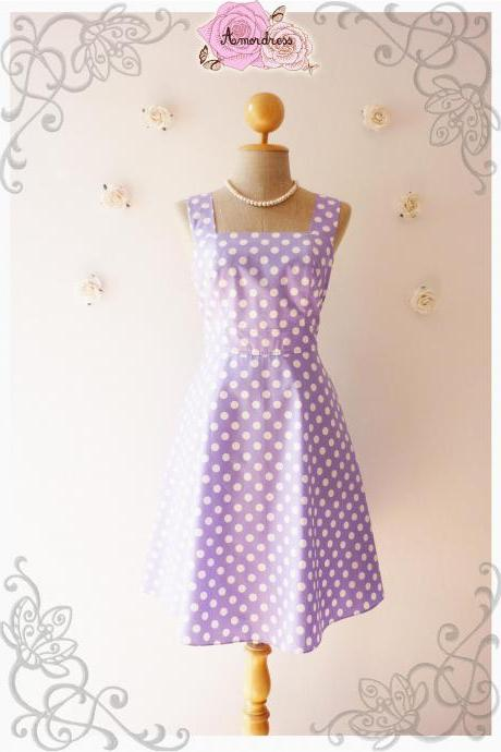 Pastel Purple Summer Dress Bridesmaid Dress Vintage Style Dress-Size XS,S,M,L,XL
