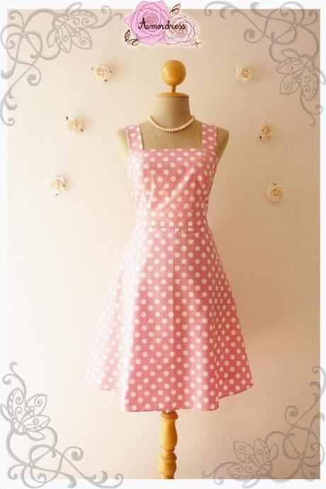 Pink Summer Dress Bridesmaid Dress Vintage Style Dress-Size XS,S,M,L,XL