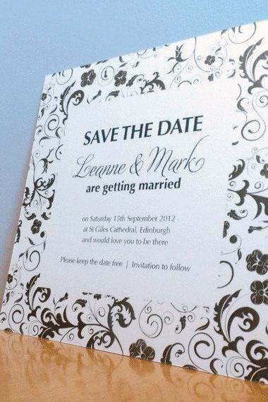 Save the Date Card - Blossom Wedding Range - Wedding Invitation