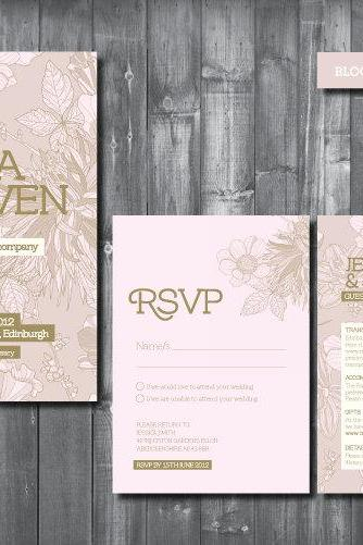 Wedding Invitation Suite - Digital Printable File - Bloom Wedding Range
