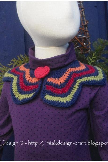 Peter Pan Collar with Heart - PDF Pattern