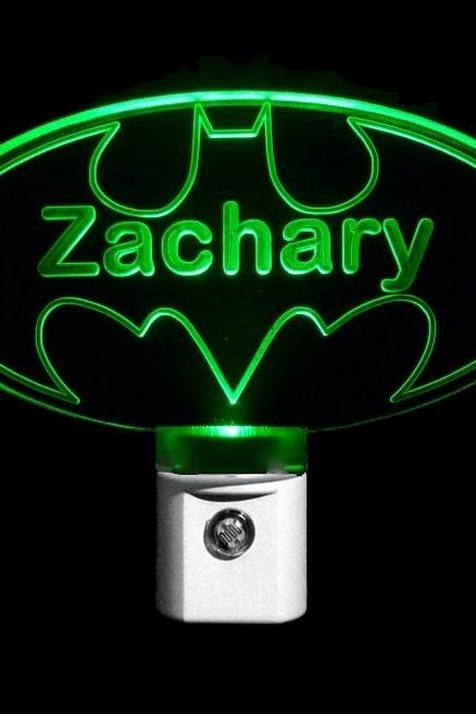 Personalized Custom Batman LED Night Light