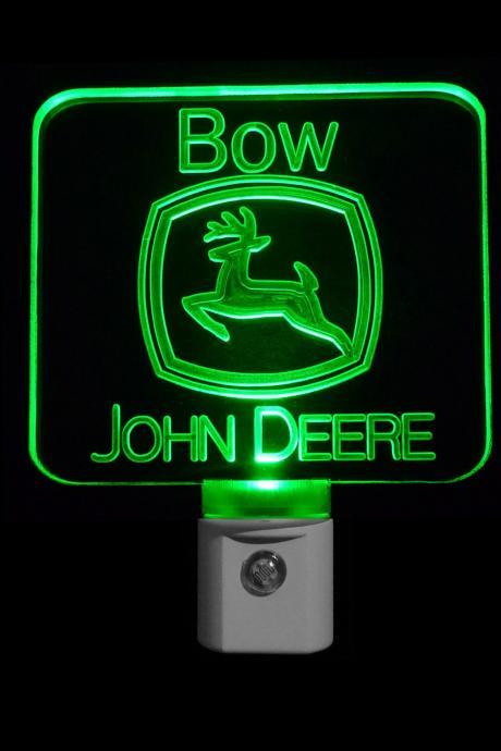 Personalized John Deere Night Light, Customized with a name-FREE Shipping to US-