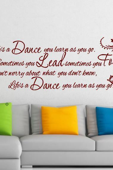 Life's a Dance Vinyl Wall Art
