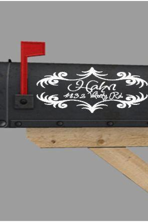 Flourish Mailbox Vinyl Decal