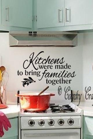 Kitchen are made for family. Vinyl Wall Decal
