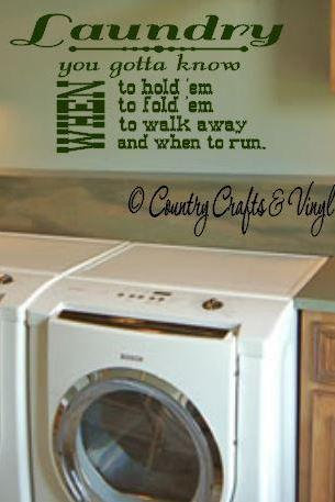 Laundry Room Vinyl Wall Art