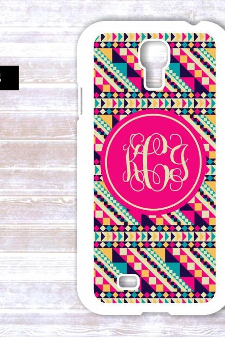 Monogrammed Aztec PatternSamsung Galaxy S4 Case - Personalized iPhone Case