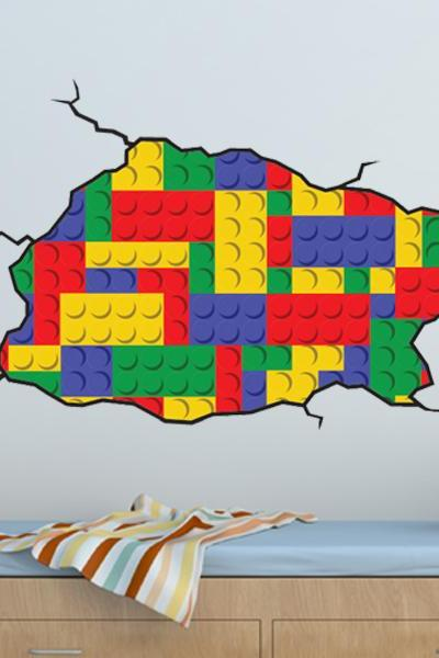 Lego Style Wall Decal -