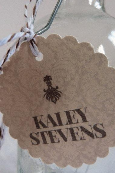 Wedding Favor Tag / Thank You Tag / Wedding Gift Tag - Damask Wedding Range
