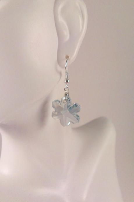 Genuine Swarovski Crystal Snowflafe Earrings