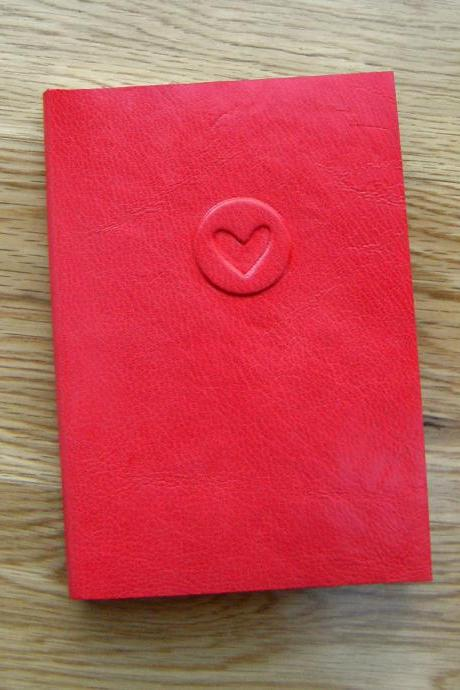 Valentine Heart Red Leather Journal