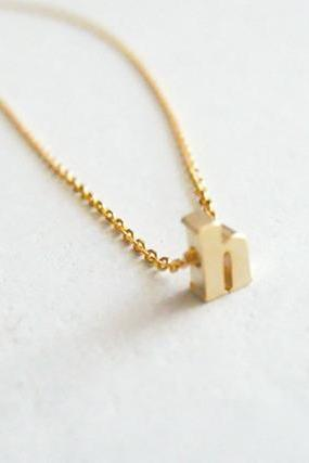 Initial woman gold necklace personalized