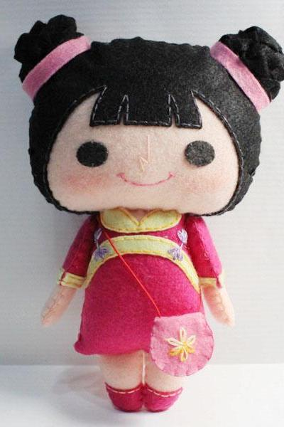 Ning Ning Girl - PDF Doll Pattern