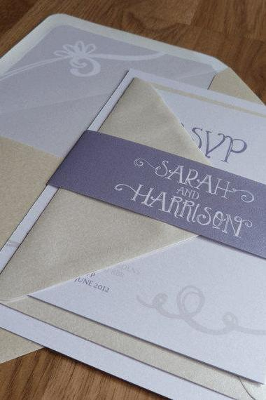 Wedding Invitation Suite - Renee Wedding Range - Unique Modern Wedding Invitations