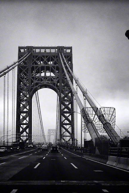 "Architecture Photo, NYC photos, George Washington Bridge, black & white, 8x10"" print"