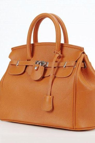 Hot Elegant Vintage Women Lady Celebrity PU Leather Tote Handbag Shoulder Hand Bag with Lock 8 colors H8961