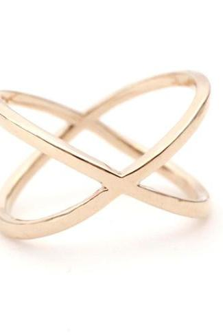 Wide X Band Infinity Ring in Rose gold