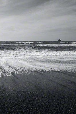 "Beach Ocean Photo black & white waves sky contrast 8x12"" print"