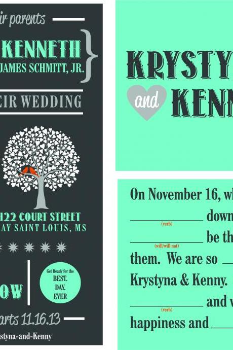 50 Cutom Budget Wedding Invitations//personalized wedding invitations, customized wedding invite
