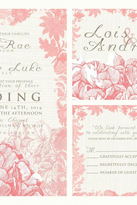 75 sets custom wedding invitations, personalized wedding invites...custom designed wedding invitations