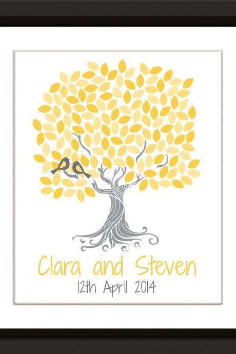 Personalized Wedding signature guestbook tree 16x20