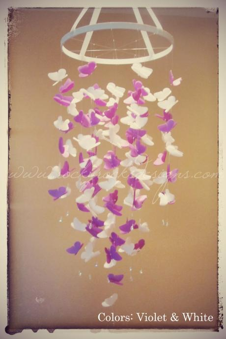 PICK 2 COLORS - MIXED - Medium Vellum Butterfly Mobile