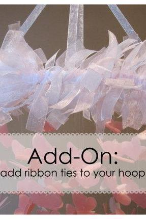 ADD ON - Add ribbon ties to your hoop
