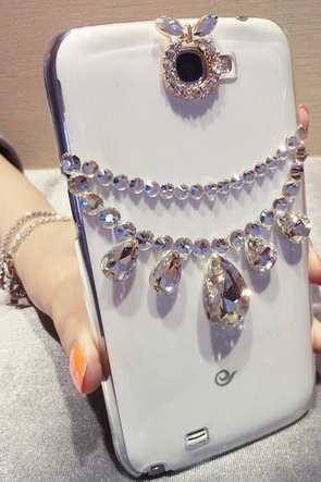 1PC New Bling Handmade Diamond Case Cover For iPhone 5 5s 5c 4 4s Transparent shell case for Samsung S2 S3 S4 Note2 best covers