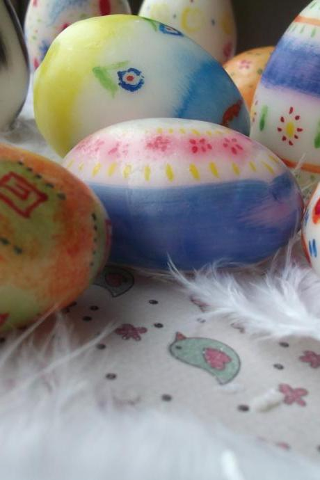 Hand-painted Egg Soaps