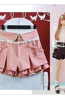 Princess Lace Vintage Inspired Pink Shorts