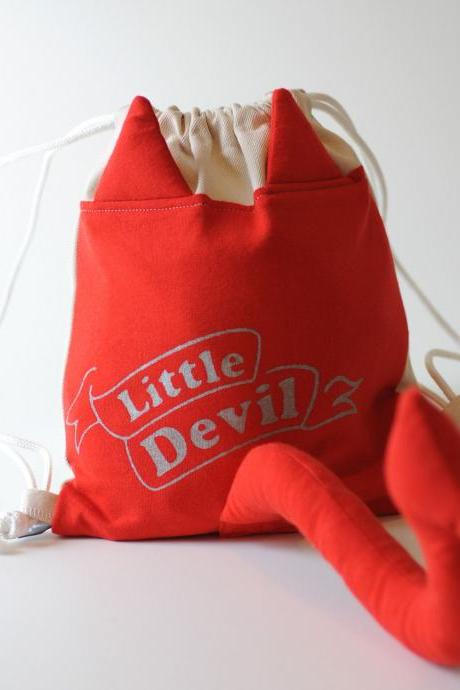 Dress Up Devil Drawstring Backpack