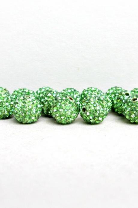 20% OFF SALE 10mm Pave Beads, Your Choice of Color
