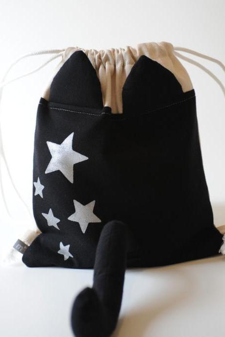 Dress Up Cat Drawstring Backpack