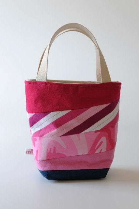 Mini Tote, Pink Camo Patchwork
