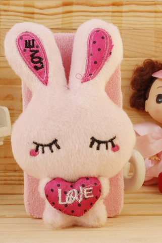 1pc Cute 3D Plush Doll Case Cartoon Winter Fashion Smart Phone Cases for iPhone 5 5S ecar0743