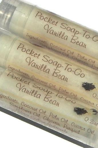 Vanilla Bean Pocket Soap - Mini Soap Perfect for Travel