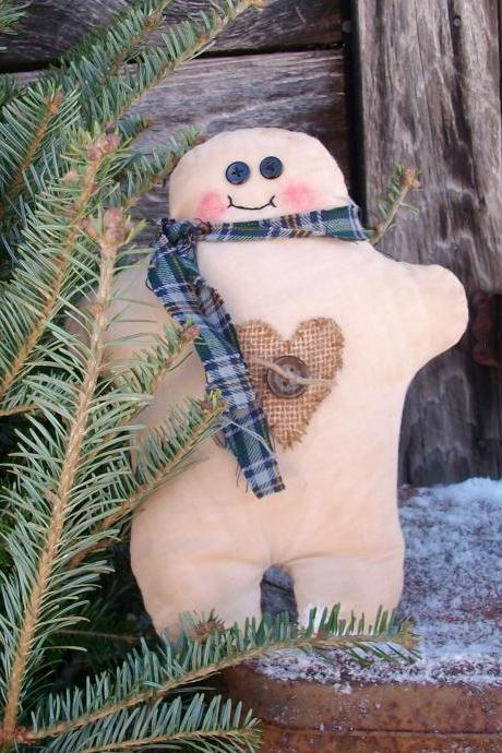 Christmas Chubby Gingerbread Man Soft Sculpture Doll