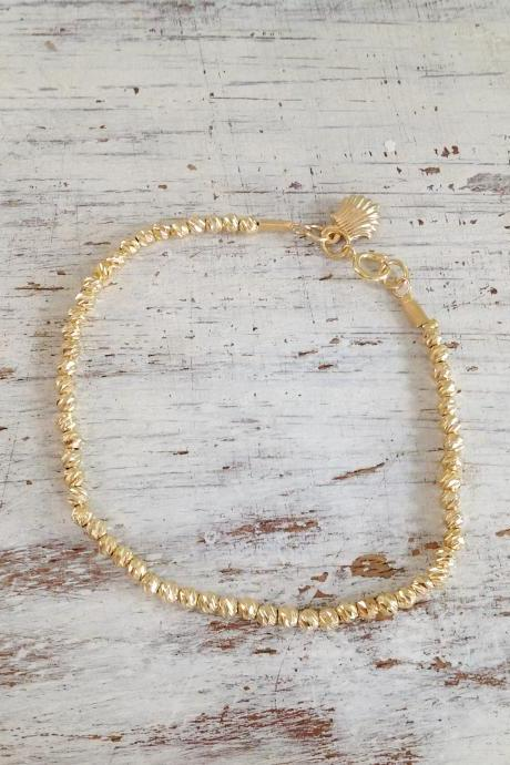 gold bracelet, Beaded bracelet, gold filled bracelet,gold filled beads, everyday bracelet, classic bracelet, gift for her -4402